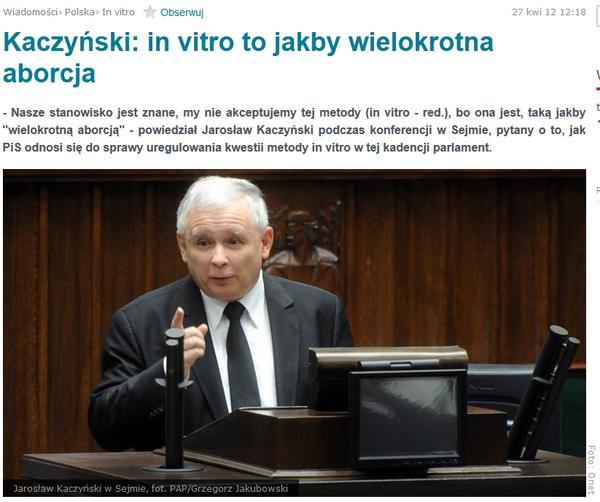 kaczyński in vitro