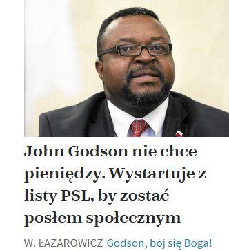JohnGodsonNie chce pieniędzy