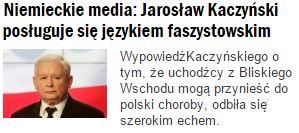 niemieckieMediaJarosławKaczyński