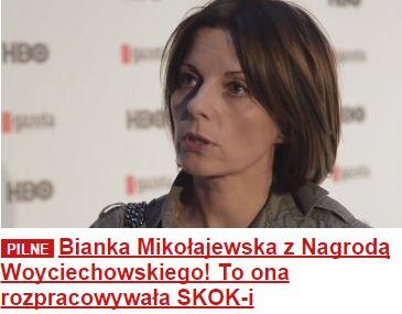 biankaMikołajewskazNagrodąWoyciechowskiego