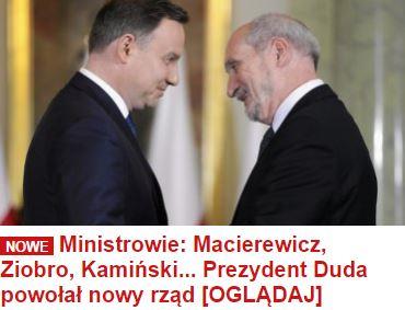 ministrowieMacierewiczZiobro