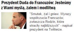 prezydentDudaDoFrancuzów