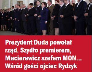 prezydentDudaPowołałRząd