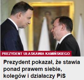 prezydentPokazał
