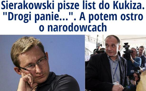 sierakowskipiszelistdoKukiza1