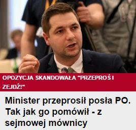 ministerPrzeprosił
