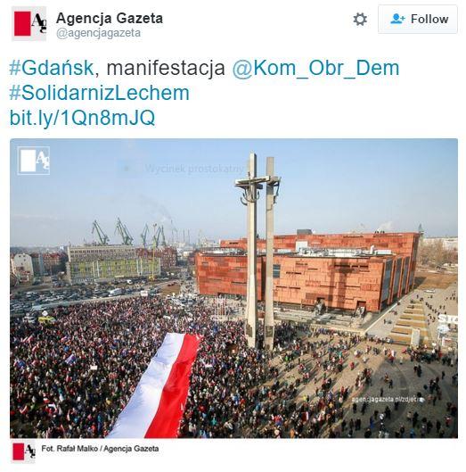gdańskManifestacja