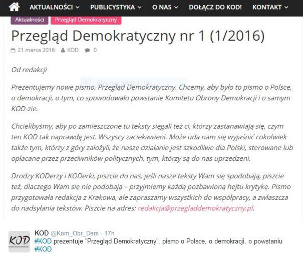 przeglądDemokratyczny