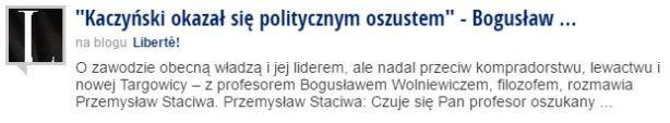 kaczyńskiOkazał
