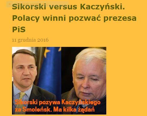 sikorski-versus